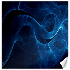 Smoke White Blue Canvas 20  X 20   by Mariart