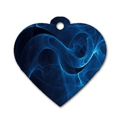 Smoke White Blue Dog Tag Heart (two Sides) by Mariart