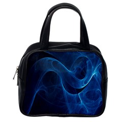 Smoke White Blue Classic Handbags (one Side) by Mariart
