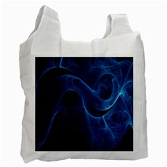 Smoke White Blue Recycle Bag (one Side) by Mariart