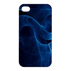 Smoke White Blue Apple Iphone 4/4s Premium Hardshell Case by Mariart
