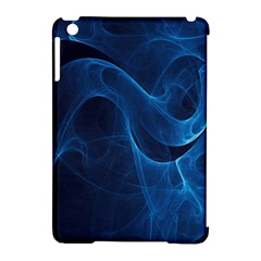 Smoke White Blue Apple Ipad Mini Hardshell Case (compatible With Smart Cover) by Mariart