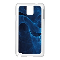 Smoke White Blue Samsung Galaxy Note 3 N9005 Case (white) by Mariart