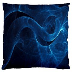 Smoke White Blue Large Flano Cushion Case (one Side) by Mariart