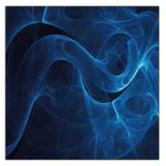 Smoke White Blue Large Satin Scarf (square) by Mariart