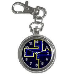 Tron Light Walls Arcade Style Line Yellow Blue Key Chain Watches by Mariart