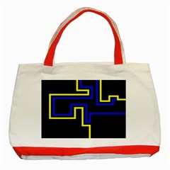 Tron Light Walls Arcade Style Line Yellow Blue Classic Tote Bag (red) by Mariart