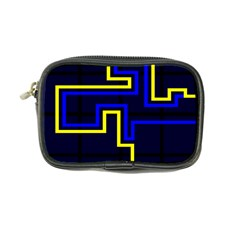 Tron Light Walls Arcade Style Line Yellow Blue Coin Purse