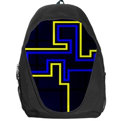 Tron Light Walls Arcade Style Line Yellow Blue Backpack Bag by Mariart