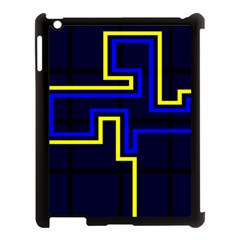 Tron Light Walls Arcade Style Line Yellow Blue Apple Ipad 3/4 Case (black) by Mariart