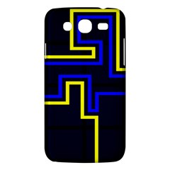 Tron Light Walls Arcade Style Line Yellow Blue Samsung Galaxy Mega 5 8 I9152 Hardshell Case  by Mariart