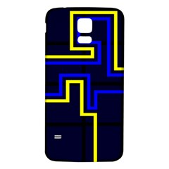 Tron Light Walls Arcade Style Line Yellow Blue Samsung Galaxy S5 Back Case (white) by Mariart