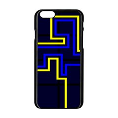 Tron Light Walls Arcade Style Line Yellow Blue Apple Iphone 6/6s Black Enamel Case by Mariart