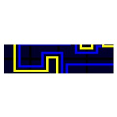 Tron Light Walls Arcade Style Line Yellow Blue Satin Scarf (oblong) by Mariart