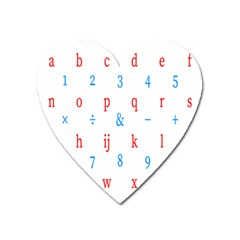 Source Serif Number Heart Magnet by Mariart