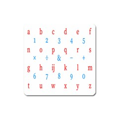 Source Serif Number Square Magnet by Mariart