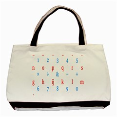 Source Serif Number Basic Tote Bag by Mariart