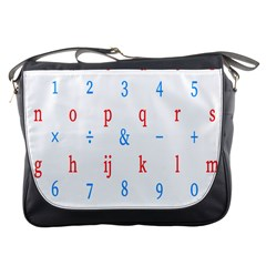 Source Serif Number Messenger Bags by Mariart