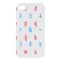 Source Serif Number Apple Iphone 4/4s Premium Hardshell Case by Mariart
