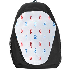 Source Serif Number Backpack Bag by Mariart