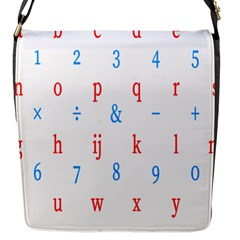 Source Serif Number Flap Messenger Bag (s) by Mariart