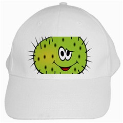 Thorn Face Mask Animals Monster Green Polka White Cap by Mariart