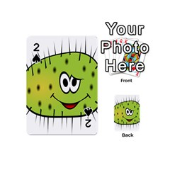 Thorn Face Mask Animals Monster Green Polka Playing Cards 54 (mini)  by Mariart
