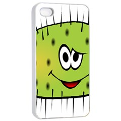 Thorn Face Mask Animals Monster Green Polka Apple Iphone 4/4s Seamless Case (white) by Mariart