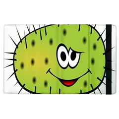 Thorn Face Mask Animals Monster Green Polka Apple Ipad 3/4 Flip Case by Mariart