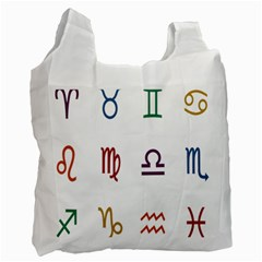 Twelve Signs Zodiac Color Star Recycle Bag (one Side) by Mariart
