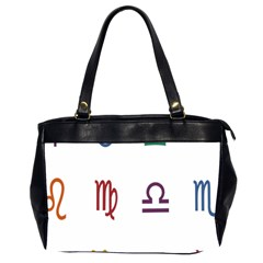 Twelve Signs Zodiac Color Star Office Handbags (2 Sides)  by Mariart