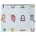 Twelve Signs Zodiac Color Star Cosmetic Bag (XXXL)  Front