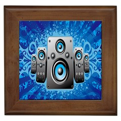 Sound System Music Disco Party Framed Tiles by Mariart