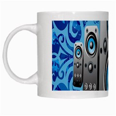Sound System Music Disco Party White Mugs by Mariart