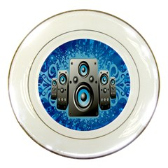Sound System Music Disco Party Porcelain Plates by Mariart