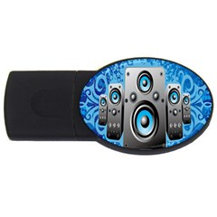 Sound System Music Disco Party Usb Flash Drive Oval (4 Gb)