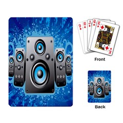 Sound System Music Disco Party Playing Card by Mariart