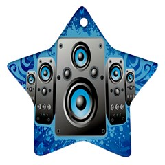 Sound System Music Disco Party Star Ornament (two Sides) by Mariart