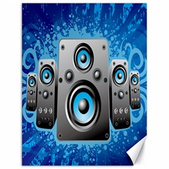 Sound System Music Disco Party Canvas 18  X 24   by Mariart