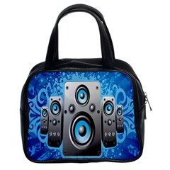 Sound System Music Disco Party Classic Handbags (2 Sides) by Mariart