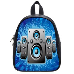 Sound System Music Disco Party School Bags (small)  by Mariart