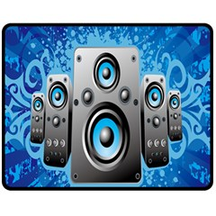 Sound System Music Disco Party Fleece Blanket (medium)  by Mariart