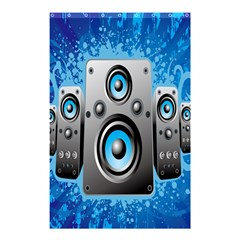 Sound System Music Disco Party Shower Curtain 48  X 72  (small)  by Mariart