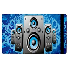 Sound System Music Disco Party Apple Ipad 2 Flip Case by Mariart