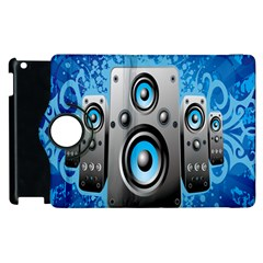 Sound System Music Disco Party Apple Ipad 2 Flip 360 Case by Mariart