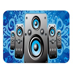 Sound System Music Disco Party Double Sided Flano Blanket (large)  by Mariart