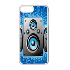 Sound System Music Disco Party Apple Iphone 7 Plus White Seamless Case by Mariart