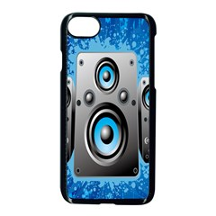 Sound System Music Disco Party Apple Iphone 7 Seamless Case (black) by Mariart
