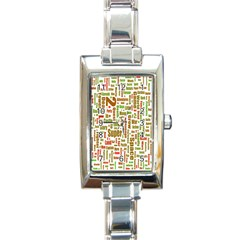 Screen Source Serif Text Rectangle Italian Charm Watch by Mariart
