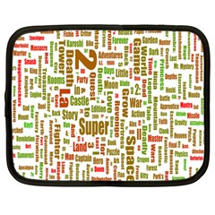 Screen Source Serif Text Netbook Case (large) by Mariart
